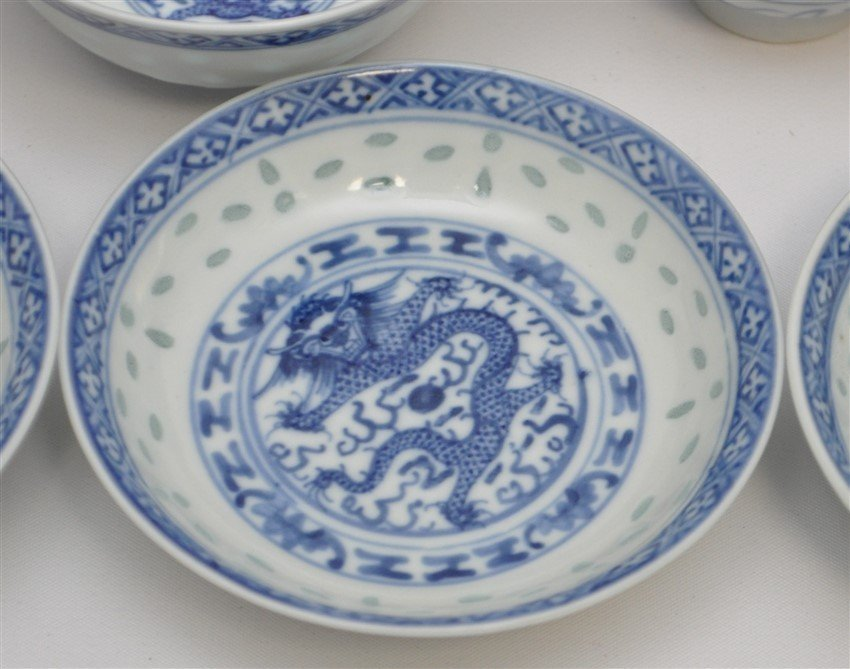 35 PC VINTAGE CHINESE EXPORT RICE GRAIN PORCELAIN - 2