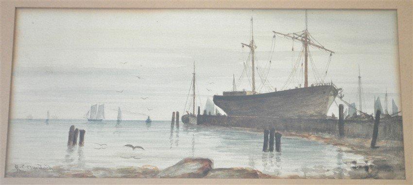 19th c. CHARLES C. MURDOCH WATERCOLOR BOSTON - 2