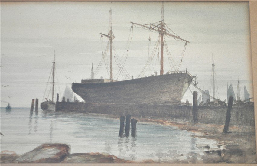 19th c. CHARLES C. MURDOCH WATERCOLOR BOSTON - 3