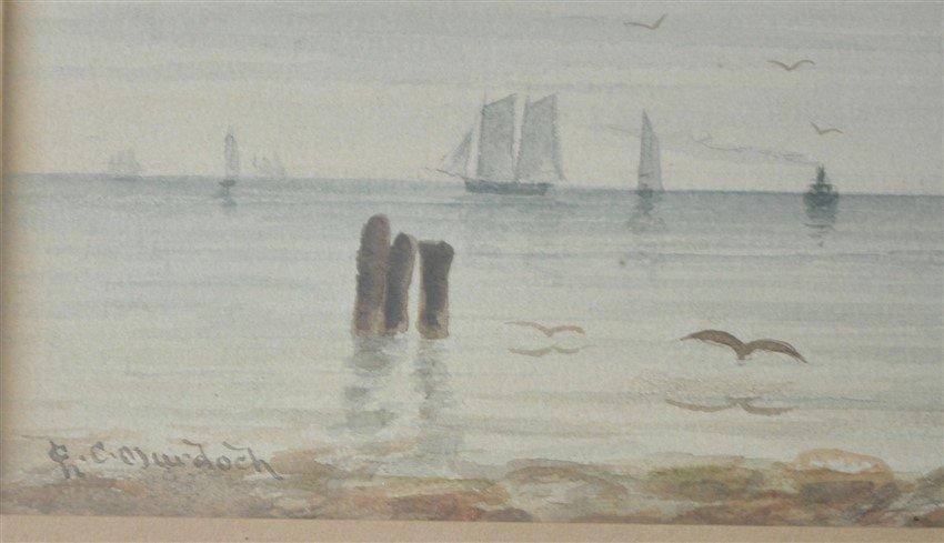 19th c. CHARLES C. MURDOCH WATERCOLOR BOSTON - 4