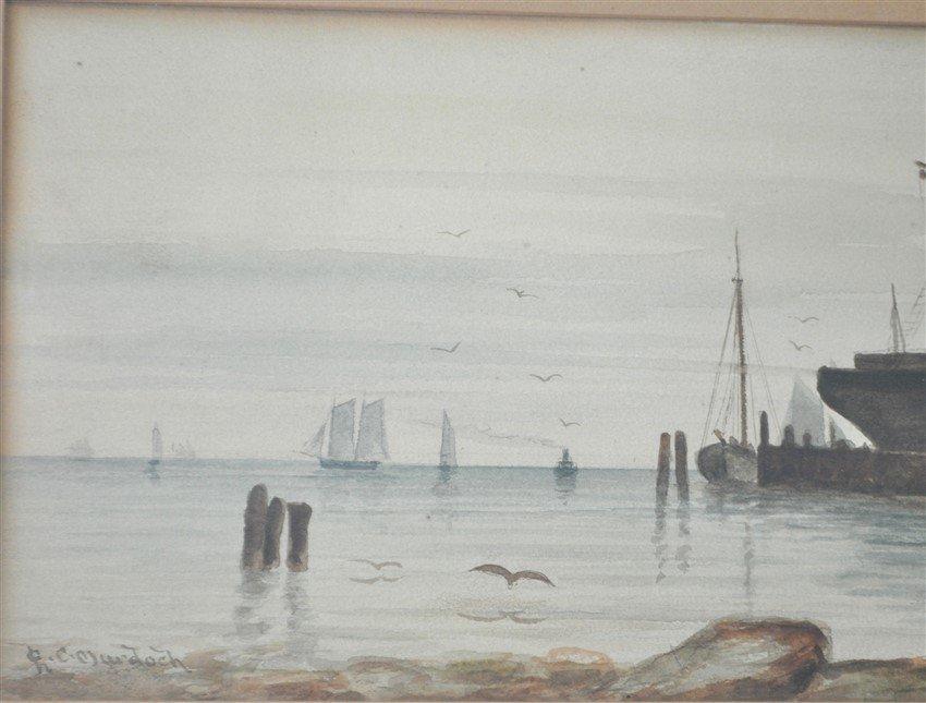 19th c. CHARLES C. MURDOCH WATERCOLOR BOSTON - 5