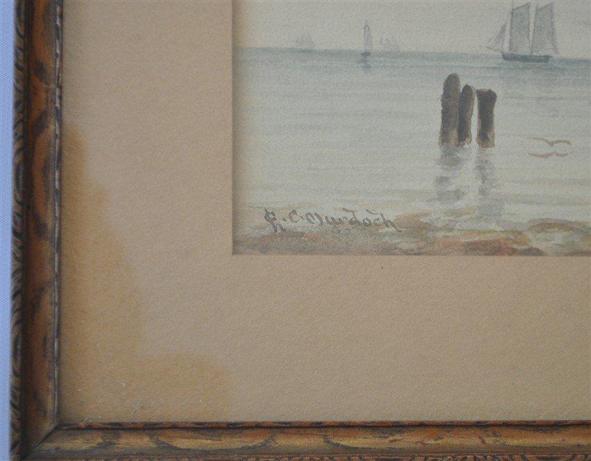 19th c. CHARLES C. MURDOCH WATERCOLOR BOSTON - 6