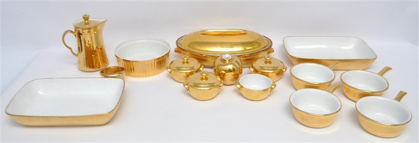 15 Pc ROYAL WORCESTER GOLD LUSTRE +