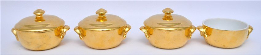 15 Pc ROYAL WORCESTER GOLD LUSTRE + - 6