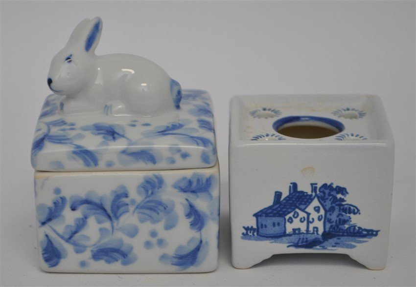 12 PC MINIATURES BESWICK - DELFT - WILLOW - 7