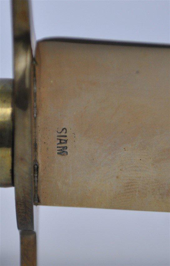 5 pc VINTAGE BRONZE SERVING PIECES ORIG BOX - 7