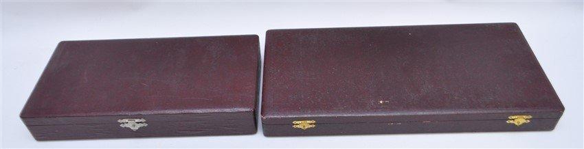 5 pc VINTAGE BRONZE SERVING PIECES ORIG BOX - 8
