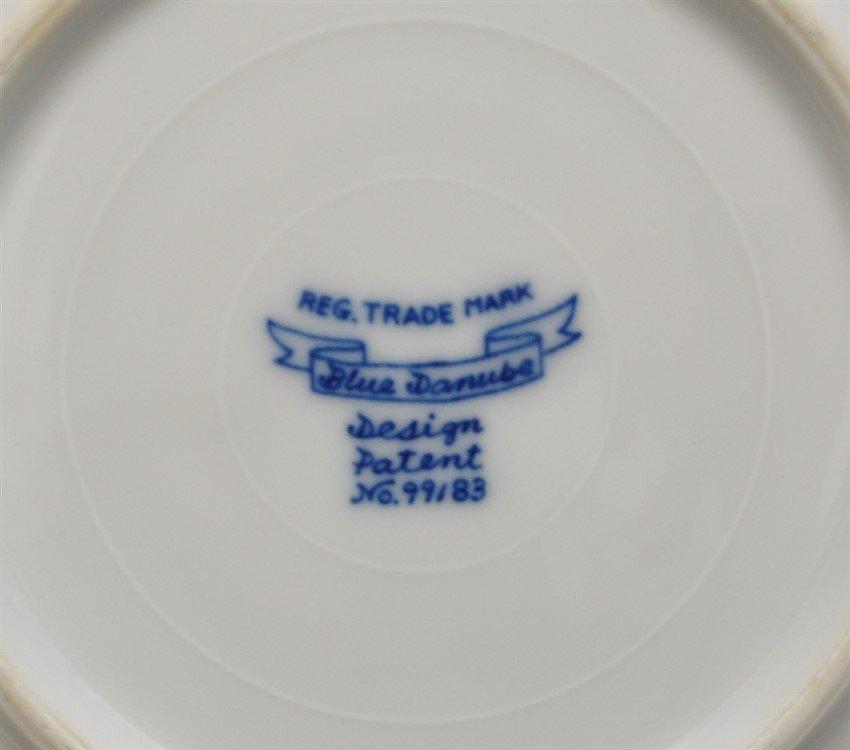 30 pc VINTAGE BLUE DANUBE INCL TEAPOT - 9