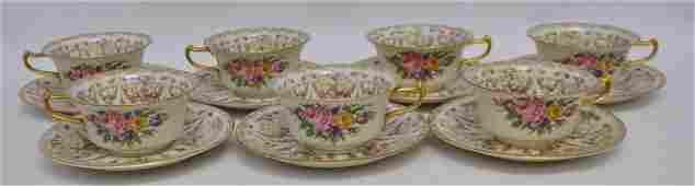 14 pc ROSENTHAL IVORY SANTA ROSA CUPS  SAUCERS