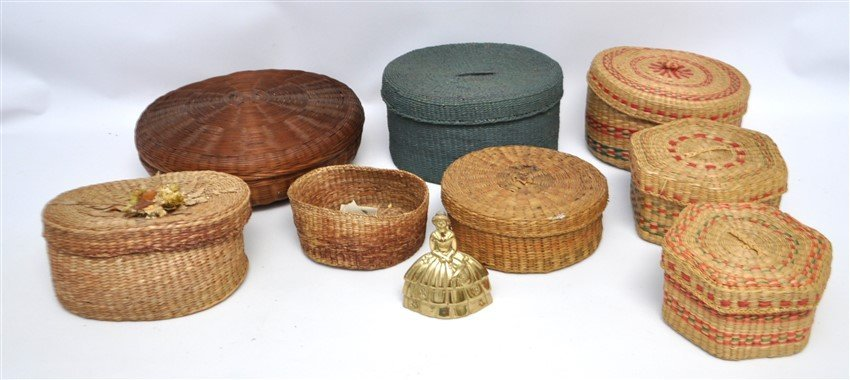 8 ANTIQUE & VINTAGE BASKETS - MICMAC - NEW ENGLAND - 4