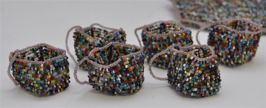 SOUTH AFRICAN BEADED DRINK SET - 5