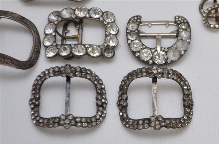 LOT ANTIQUE VINTAGE BUCKLES - 6