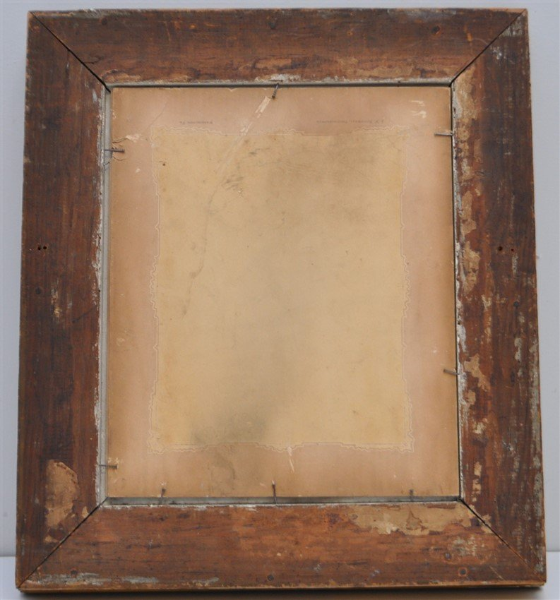 ANTIQUE STERN FACED CHILDS PHOTOGRAPH SHADOWBOX - 5