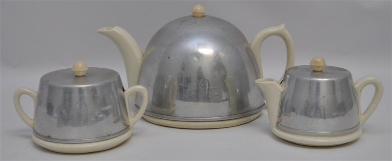 3pc ART DECO SOCIETY WARE TEA SET