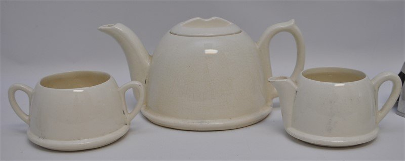 3pc ART DECO SOCIETY WARE TEA SET - 2