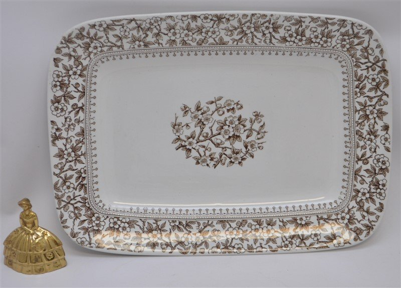 19TH c. FURNIVALS ALTON PLATTER - 8