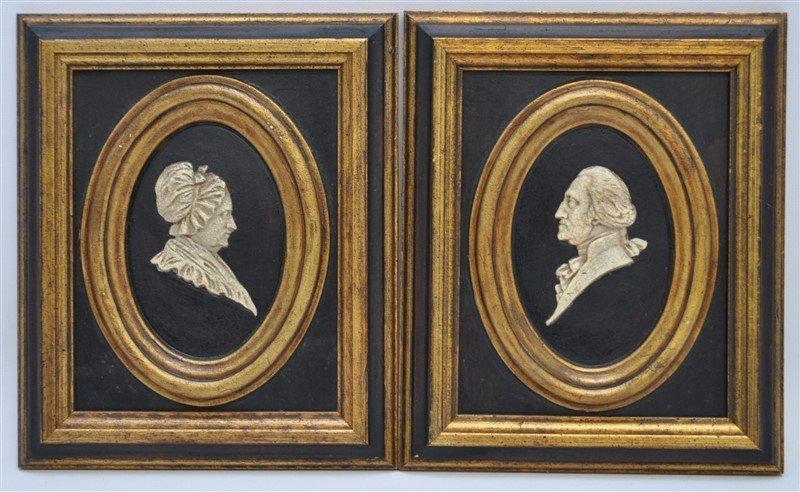 GEORGE & MARTHA WASHINGTON SILHOUETTES