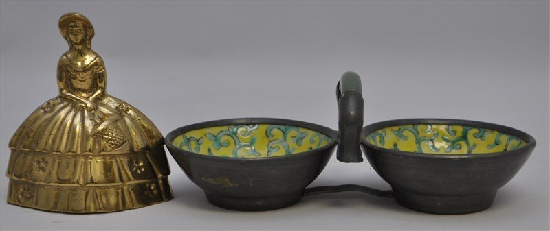 ENAMELED CHINESE JADE HANDLED CEREMONIAL VESSEL - 10