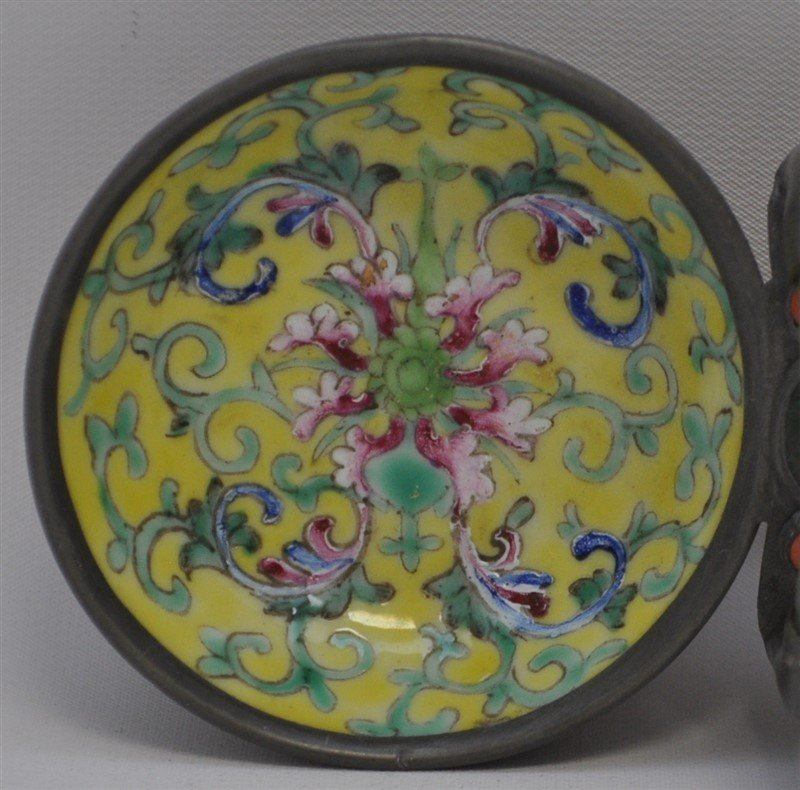 ENAMELED CHINESE JADE HANDLED CEREMONIAL VESSEL - 5