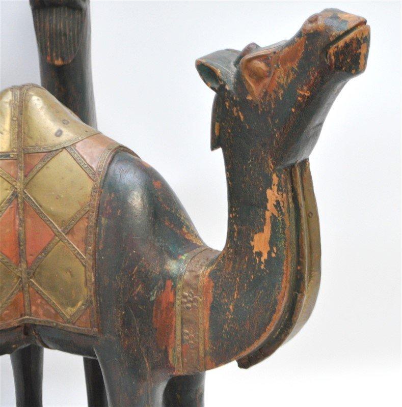 ARABIC FIGURAL CARVED CAMEL TABLE - QATAR - 3