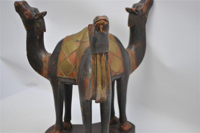 ARABIC FIGURAL CARVED CAMEL TABLE - QATAR - 4