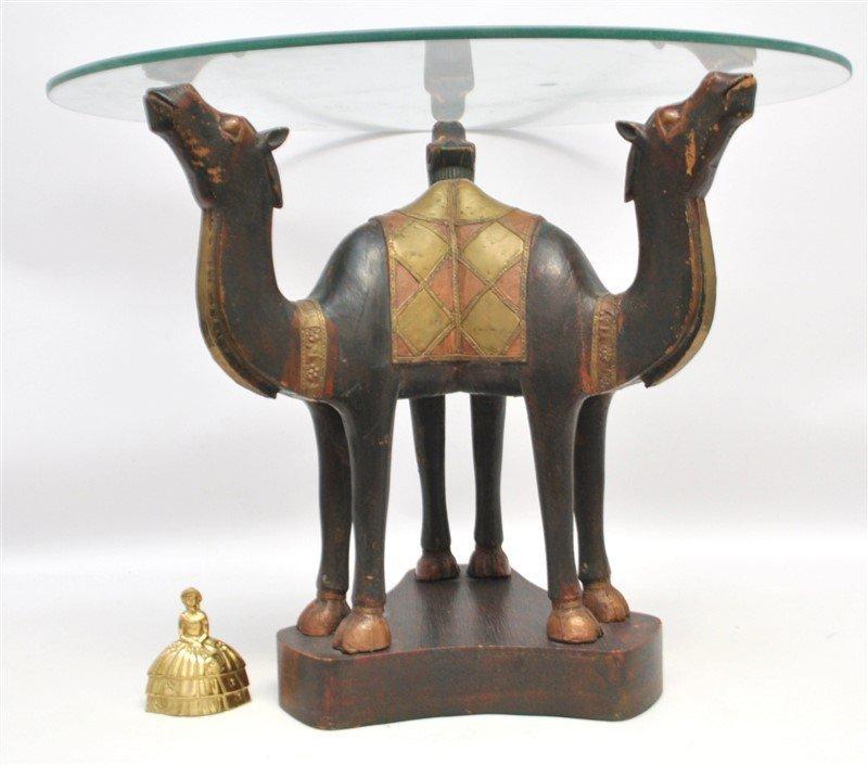 ARABIC FIGURAL CARVED CAMEL TABLE - QATAR - 9