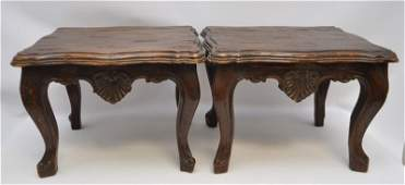 PAIR ANTIQUE FRENCH COUNTRY OCCASIONAL TABLES