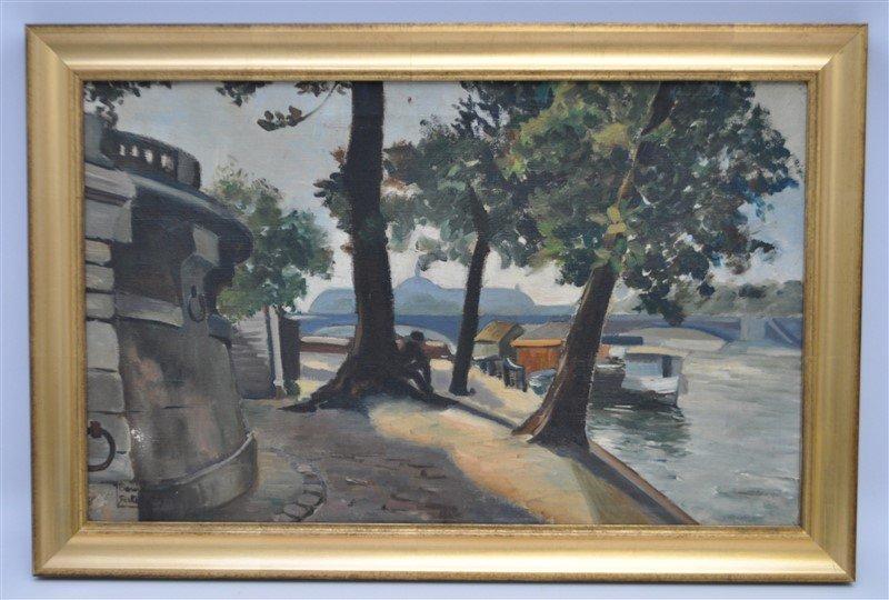 JEANNE BESNARD-FORTIN (1892-1978) OIL ON CANVAS