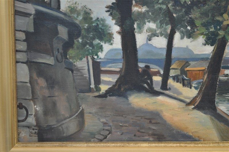 JEANNE BESNARD-FORTIN (1892-1978) OIL ON CANVAS - 3
