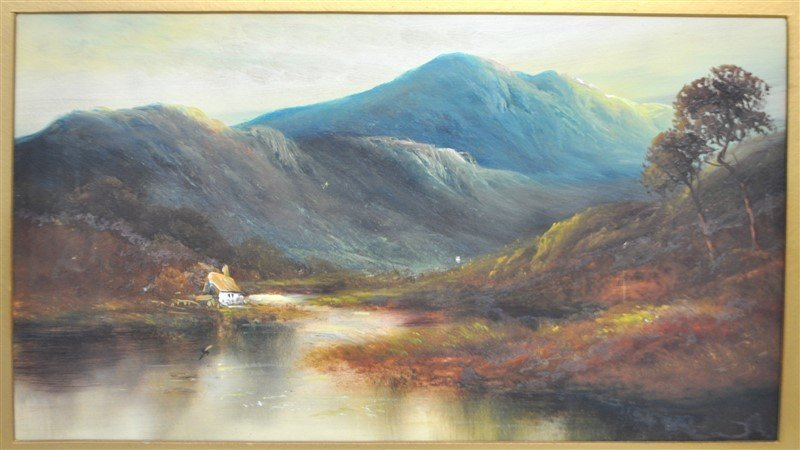 SCOTTISH HIGHLANDS 19th C. OIL ON BOARD - 2
