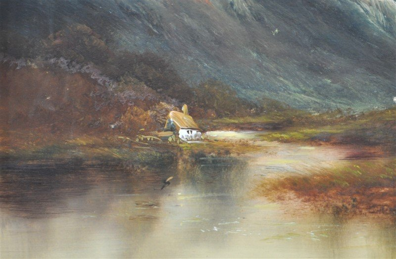 SCOTTISH HIGHLANDS 19th C. OIL ON BOARD - 3