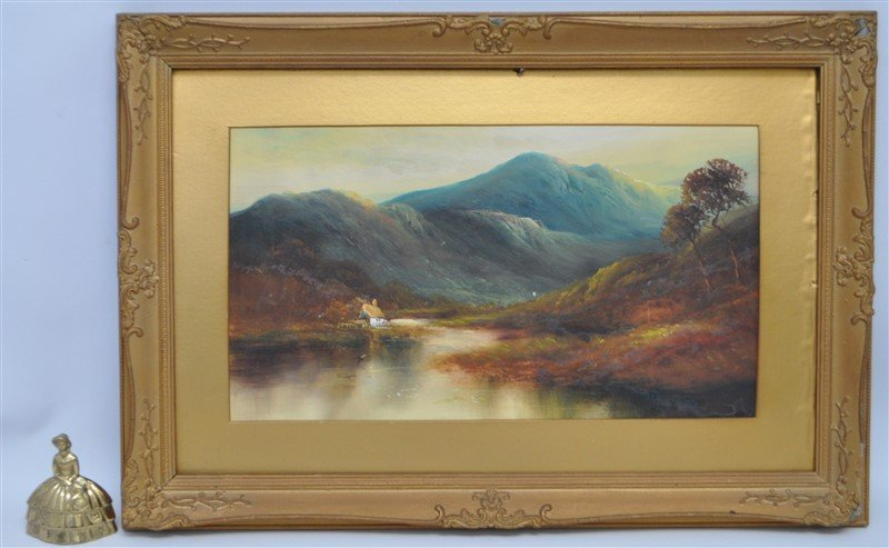 SCOTTISH HIGHLANDS 19th C. OIL ON BOARD - 8