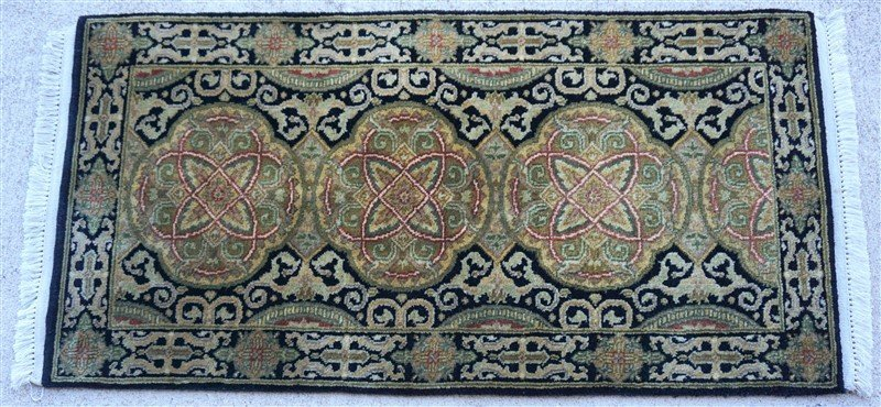 PERSIAN HAND KNOTTED WOOL SMALL RUG