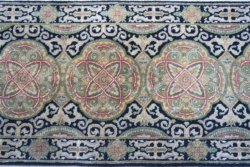 PERSIAN HAND KNOTTED WOOL SMALL RUG - 2