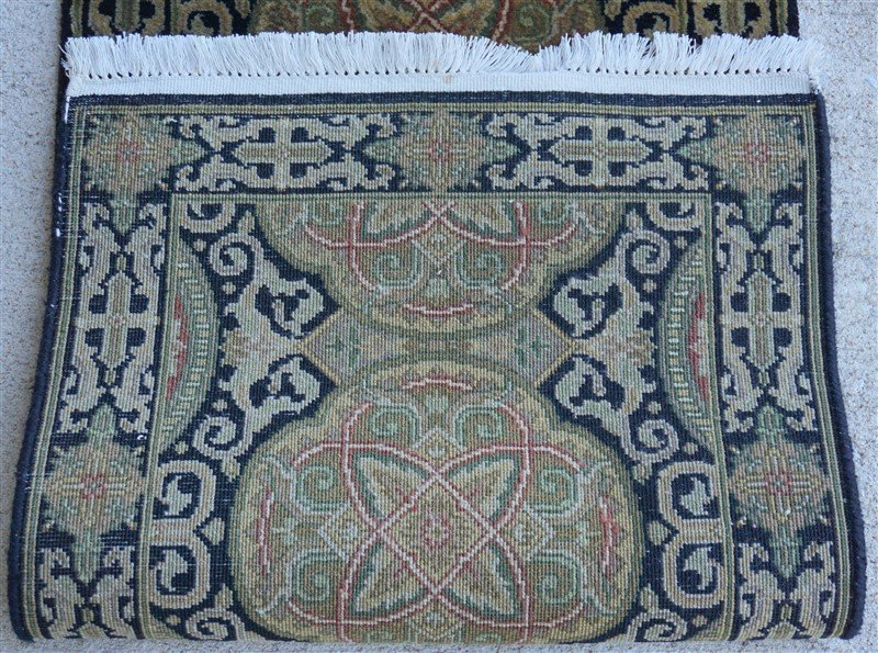 PERSIAN HAND KNOTTED WOOL SMALL RUG - 4
