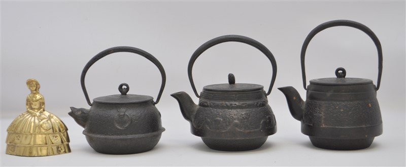 3 JAPANESE ANTIQUE IRON TETSUBIN - 2