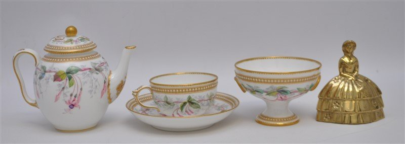ENGLISH VICTORIAN 1881 NIGHTSHADE WORCESTER TEA - 9