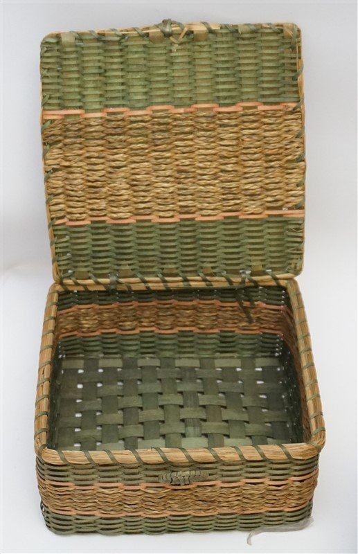 7 ANTIQUE BASKETS - SPLINT - WICKER - 4