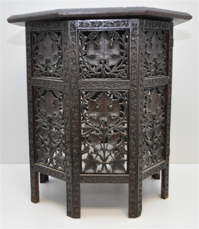 BRITISH COLONIAL ANGLO INDIAN TEA TABLE