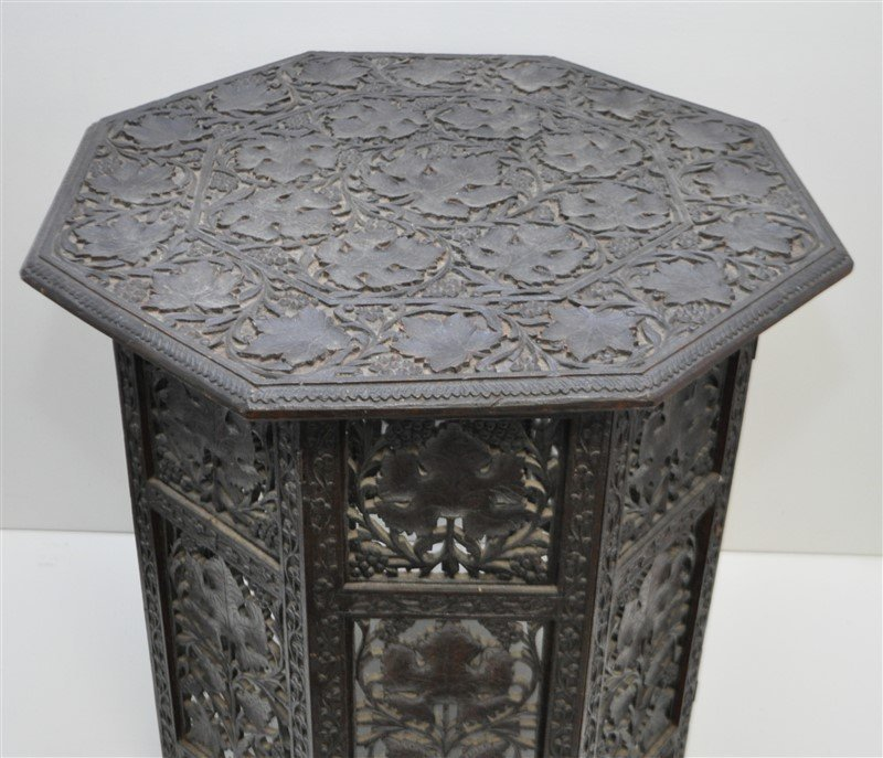 BRITISH COLONIAL ANGLO INDIAN TEA TABLE - 3