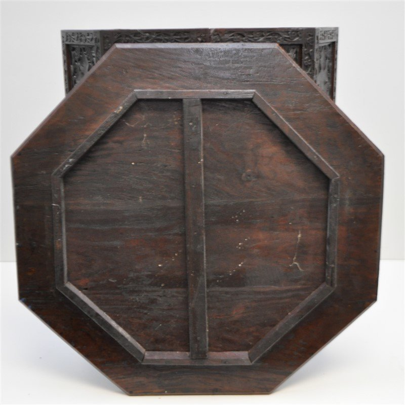 BRITISH COLONIAL ANGLO INDIAN TEA TABLE - 5