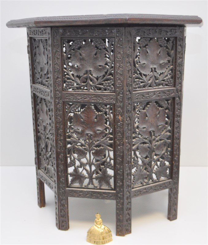 BRITISH COLONIAL ANGLO INDIAN TEA TABLE - 6