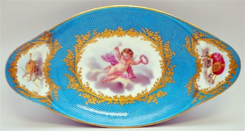 SEVRES PORCELAIN HAND PAINTED BOWL