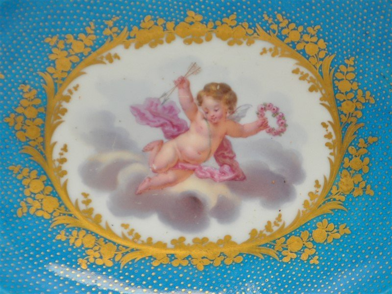 SEVRES PORCELAIN HAND PAINTED BOWL - 2