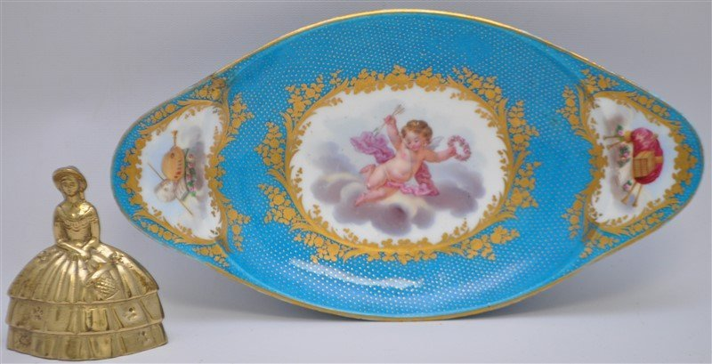 SEVRES PORCELAIN HAND PAINTED BOWL - 5