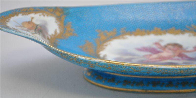 SEVRES PORCELAIN HAND PAINTED BOWL - 7