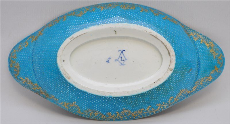 SEVRES PORCELAIN HAND PAINTED BOWL - 8