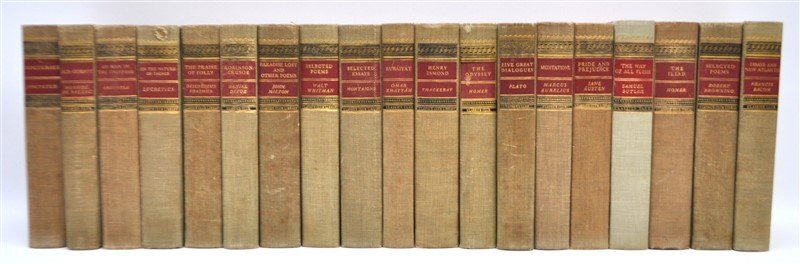 19 VOLUMES CLASSICS CLUB BOOKS
