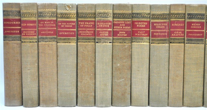 19 VOLUMES CLASSICS CLUB BOOKS - 2