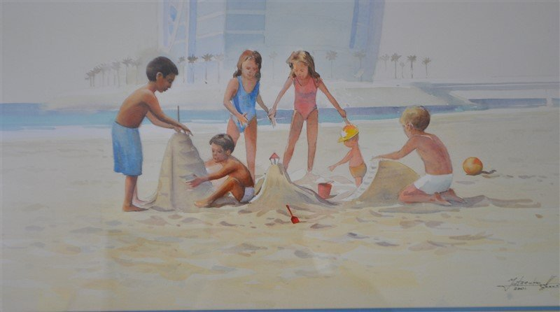 ORIGINAL MATSENKO WATERCOLOR DUBAI - 3